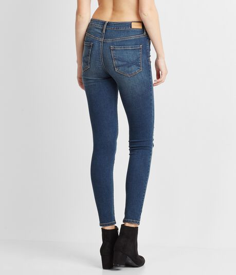 Seriously Stretchy Dark Wash High-Waisted Ankle Jegging