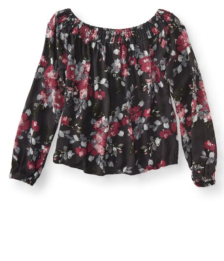 Cape Juby Floral Off The Shoulder Peasant Top
