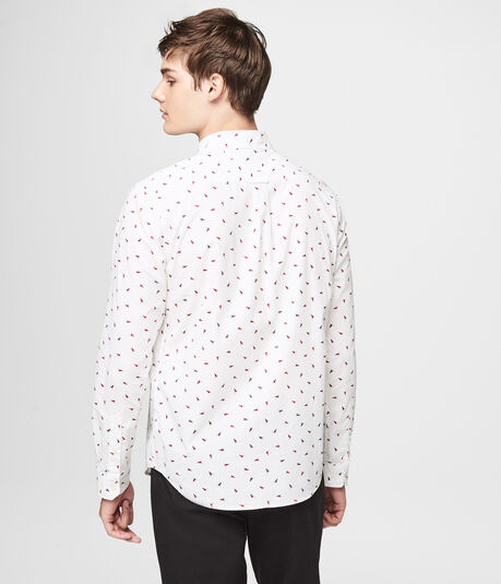 Long Sleeve Flag Woven Shirt