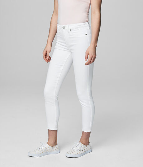 Seriously Stretchy Bleach Wash Crop Jegging