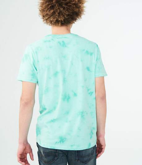 Aero Wave Circle Tie-Dye Graphic Tee