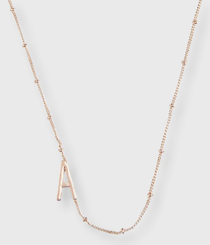Letter A Short-Strand Necklace