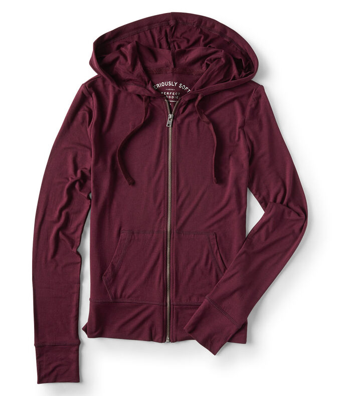 Seriously Soft Solid Full-Zip Hoodie