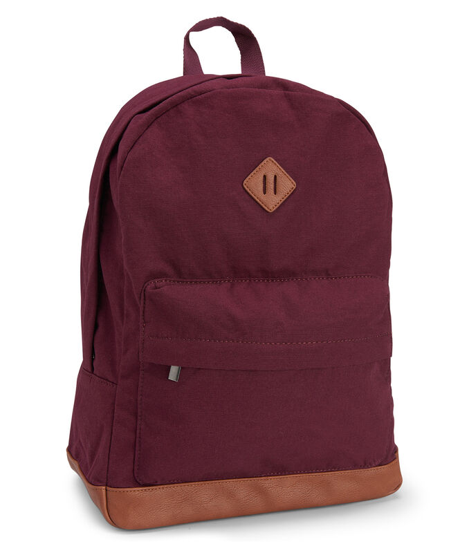 Solid Canvas Backpack