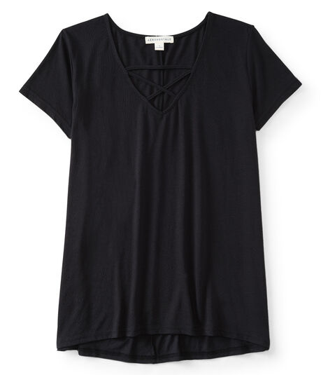 Cage-Neck Tunic Top