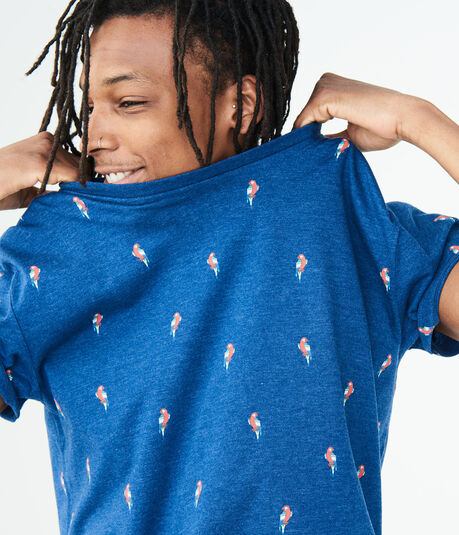 Tropical Bird Graphic Tee