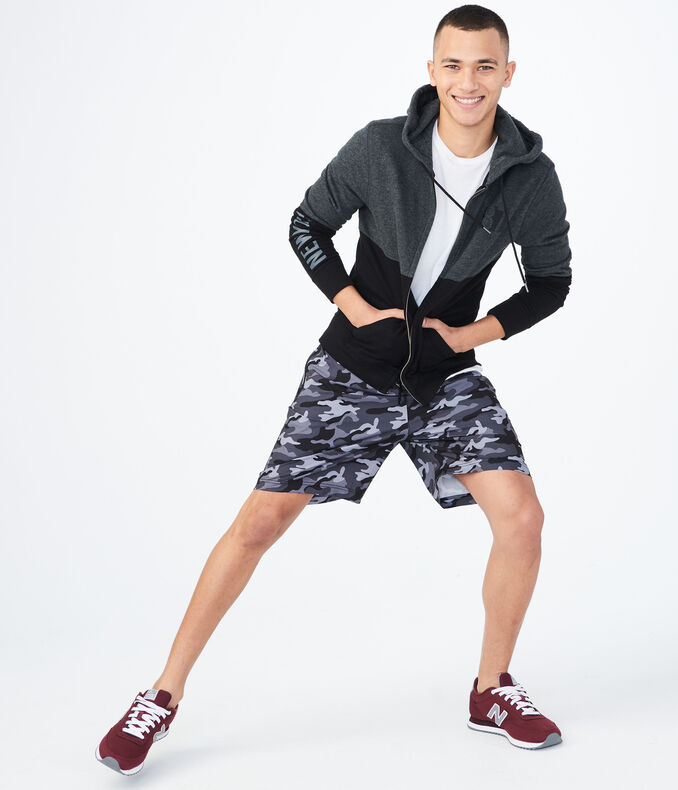 Aero NY Camo Active Stretch Woven Shorts