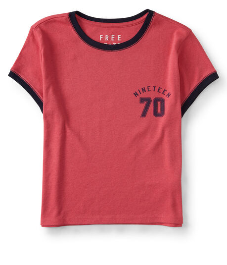 Free State Nineteen 70 Crop Ringer Graphic Tee