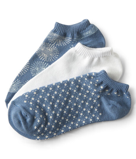 3-Pack Sunburst, Solid & Dot Ankle Socks