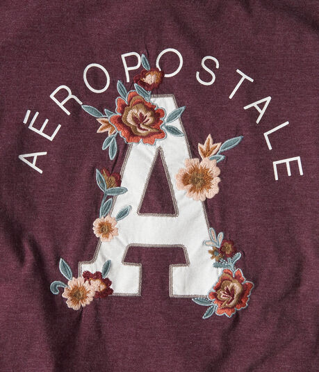 """Aeropostale Floral """"A"""" Graphic Tee"""