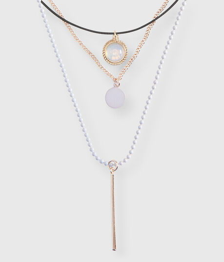 Opal Choker Short-Strand Necklace 3-Pack