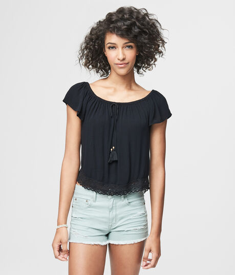 Prince & Fox Off The Shoulder Peasant Top