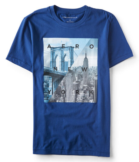 Aero New York Cityscape Graphic Tee***