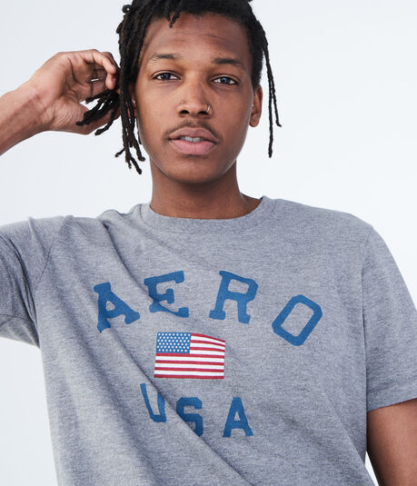 Aero USA Flag Graphic Tee