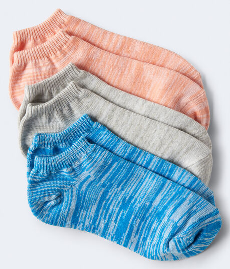 3-Pack Space-Dye Ankle Socks