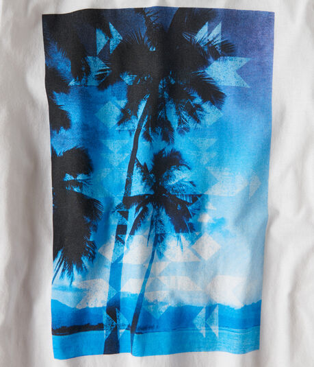 Long Sleeve Ocean Palms Graphic Tee