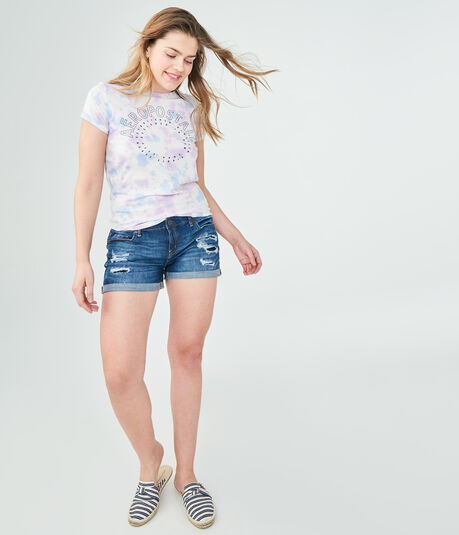 Aeropostale Circle Tie-Dye Relaxed Graphic Tee
