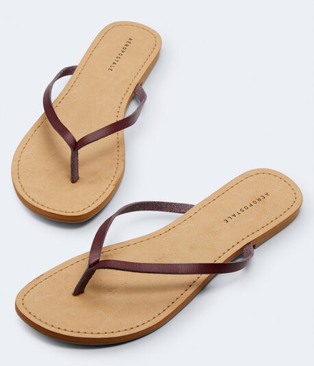 Faux Leather Flip-Flop