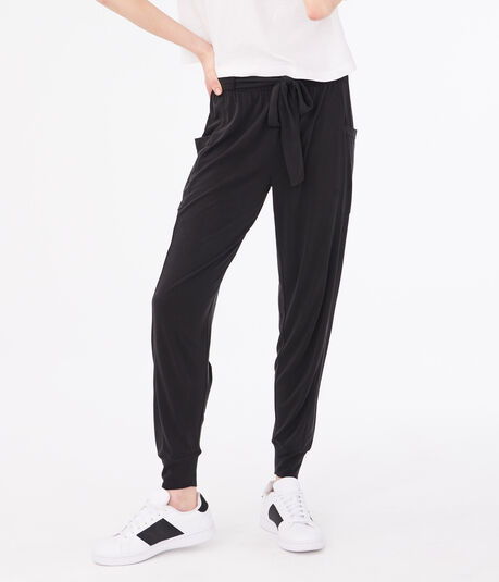 LLD Slouchy Belted Joggers