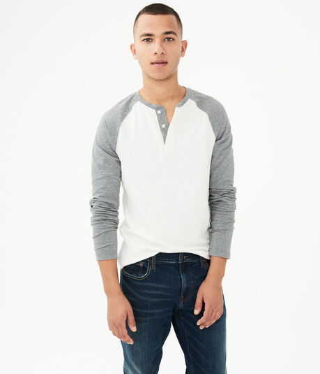 Long Sleeve Raglan Henley