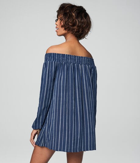 Cape Juby Striped Off The Shoulder Dress