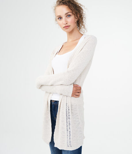 Lace-Up-Back Cardigan
