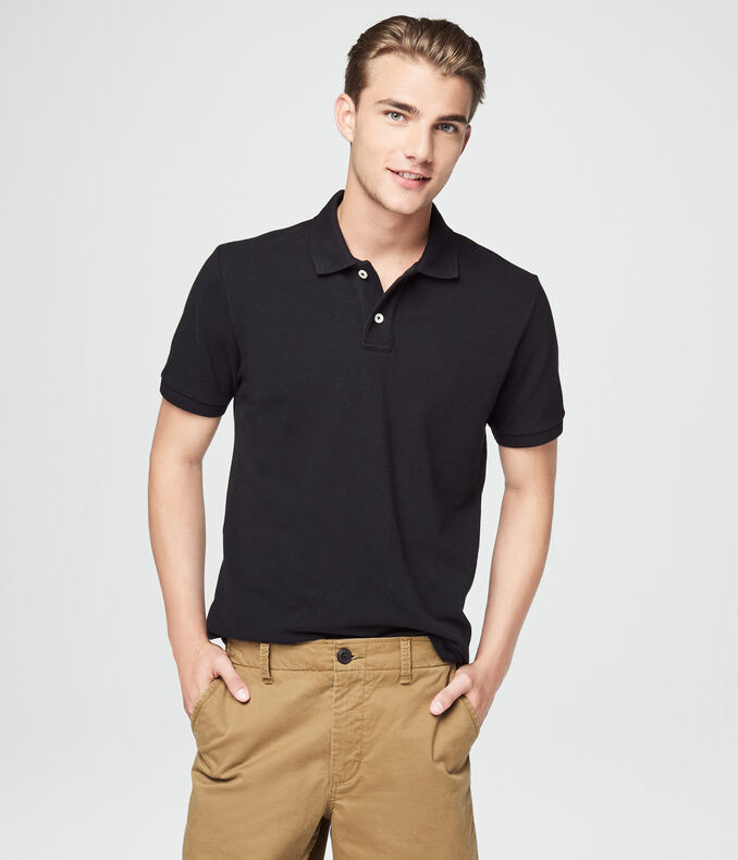 Solid Uniform Pique Polo***