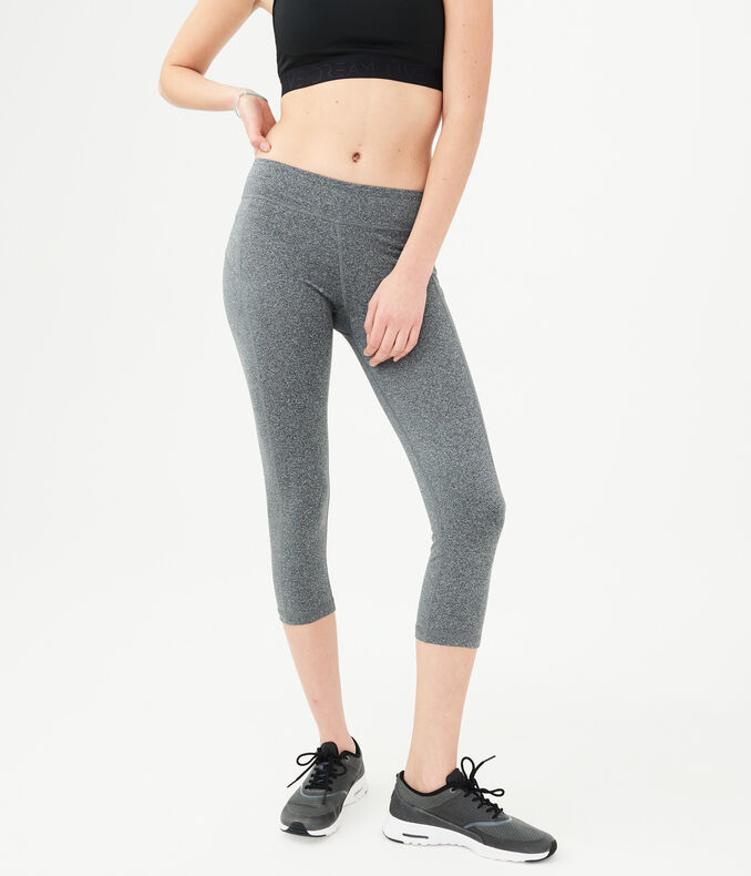 LLD Best Booty Ever Heathered Crop Leggings