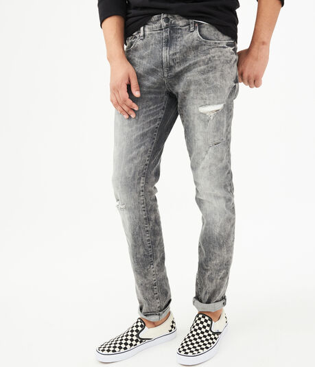 Super Skinny Grey Wash Stretch Jean