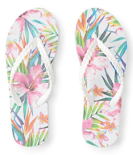 LLD Hawaiian Floral Braided Flip-Flop
