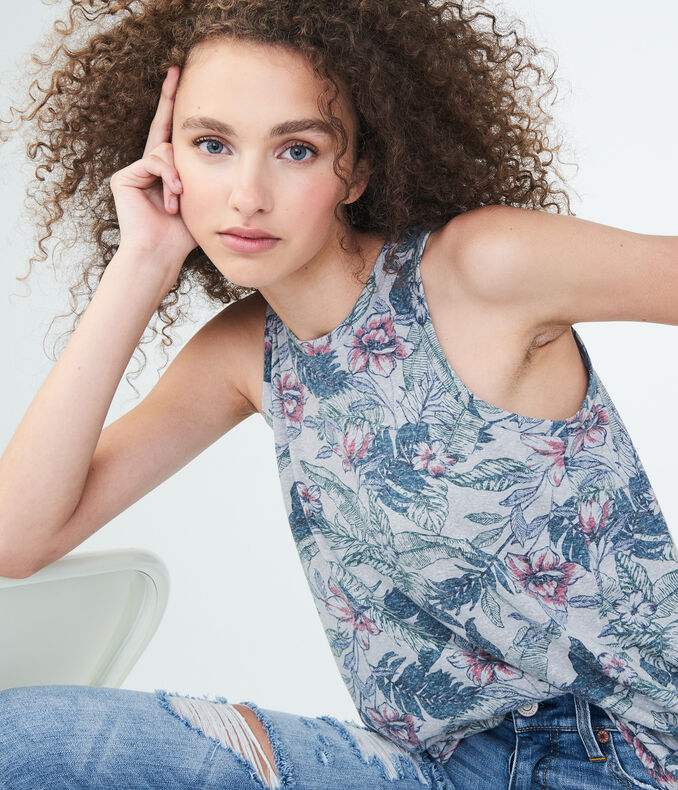 Floral Muscle Tank