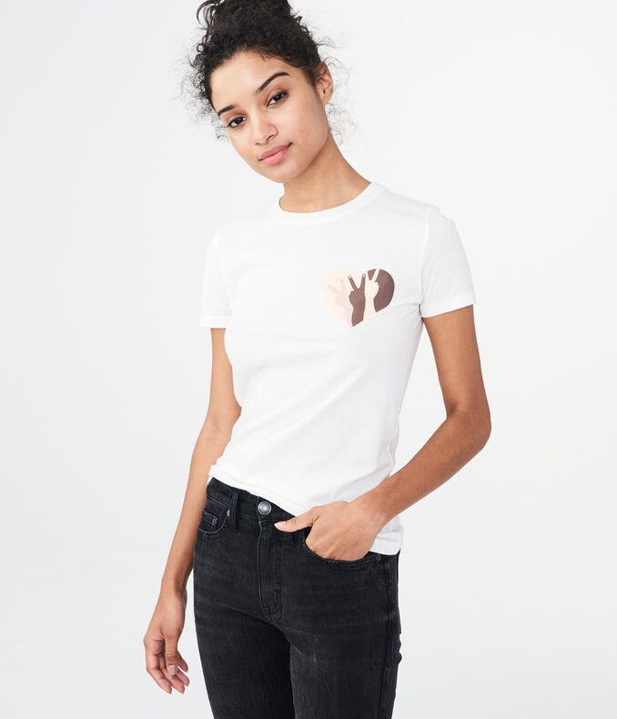 Free State Peace Heart Graphic Tee