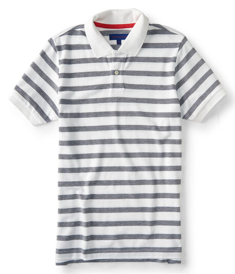 Striped Oxford Pique Polo