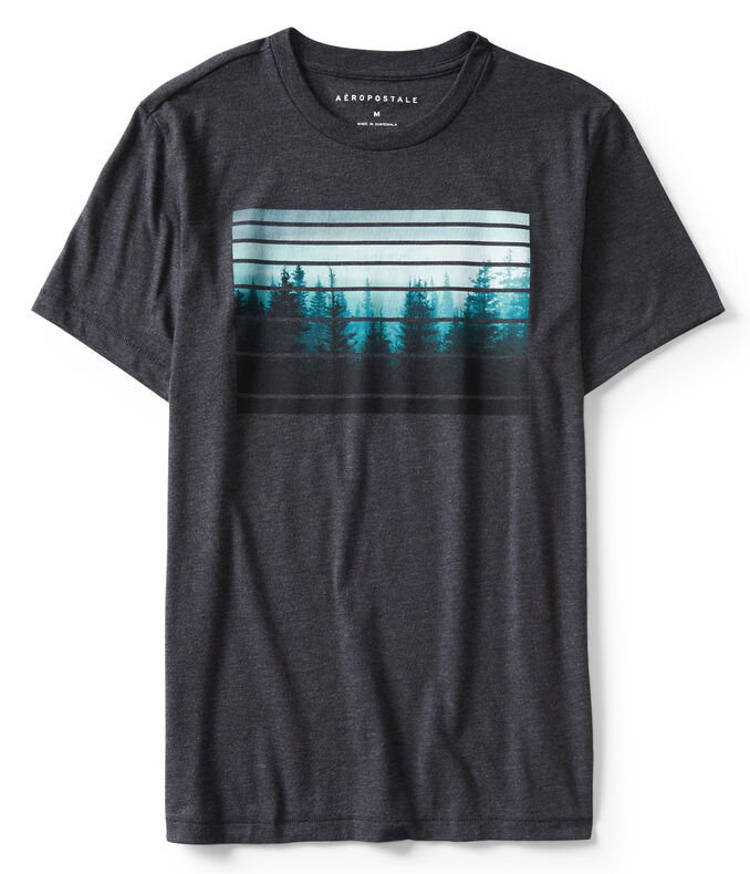 Forest Stripes Graphic Tee