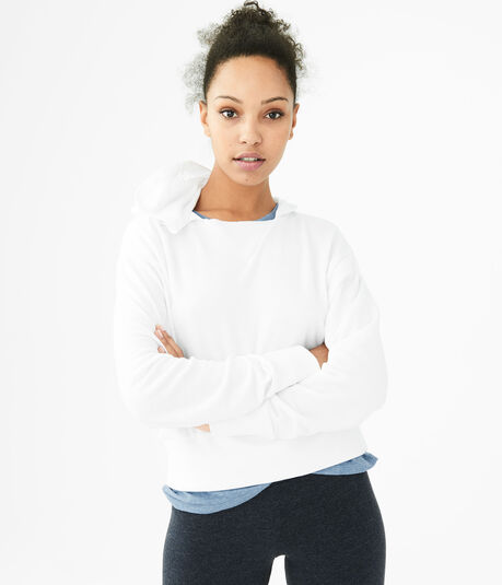 LLD Solid Ribbed Pullover Hoodie