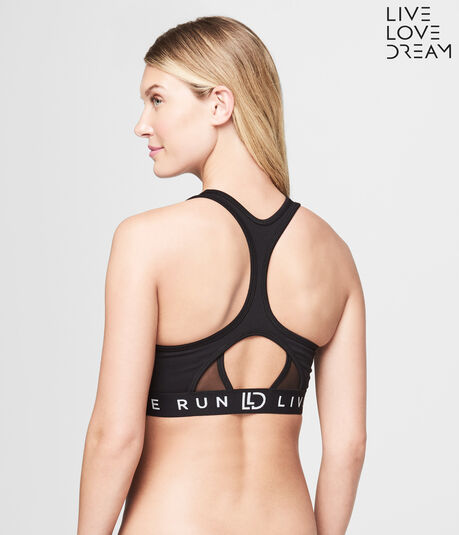 LLD Live Love Run Medium Impact Racerback Sports Bra