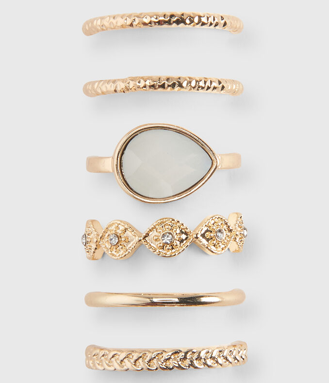 Antiqued Ring 6-Pack