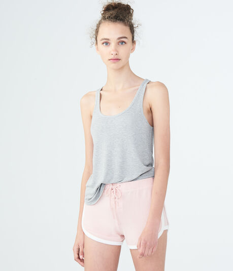 LLD Solid Ribbed Scoop-Neck Tank