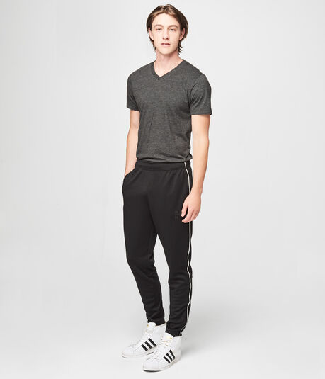 A87 NYC Ankle-Zip Stripe Pants
