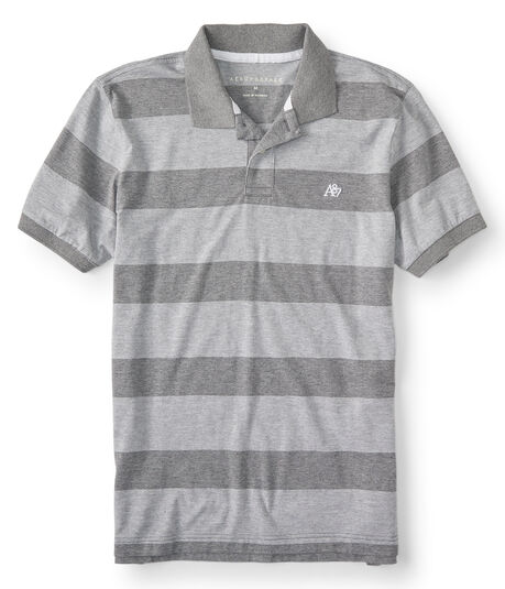 A87 Blocky Stripe Jersey Polo
