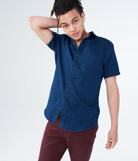 Diamond Dot Denim Woven Shirt