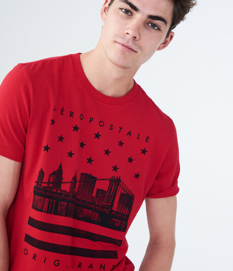Aeropostale City Stars Graphic Tee
