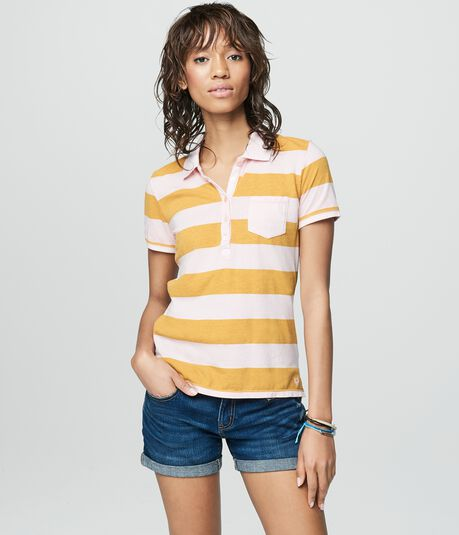 Prince & Fox Striped Jersey Polo