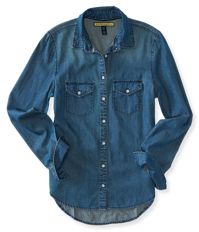 Prince & Fox Dark Wash Chambray Button Down
