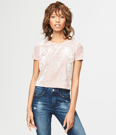 Crushed Velvet Crop Tee