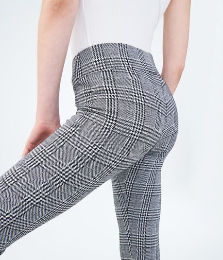 Tonal Plaid Leggings