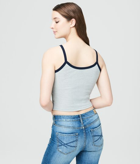 Final Sale -Palm Tree Ribbed Crop Tank