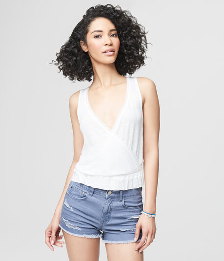 Cape Juby Lace Wrap Front Tank