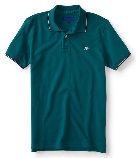 A87 Solid Tipped Pique Polo