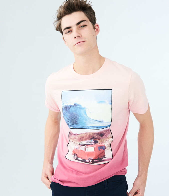 Surf Van Ombre Graphic Tee | Tuggl